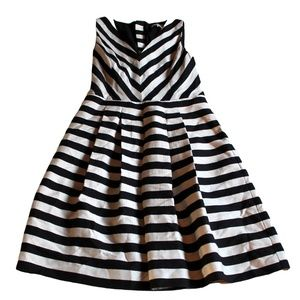 Banana Republic Stripes Fit and Flare Party Dress